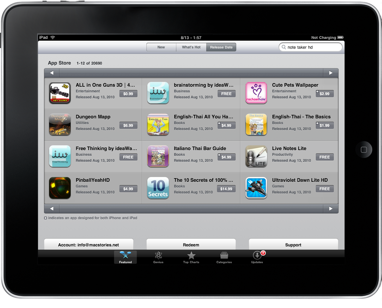 App Store Now With Over Ipad Apps Macstories