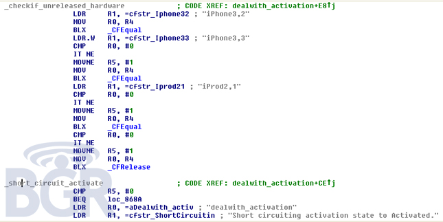 how to find ios code